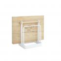 Range planches à découper en métal blanc et bois