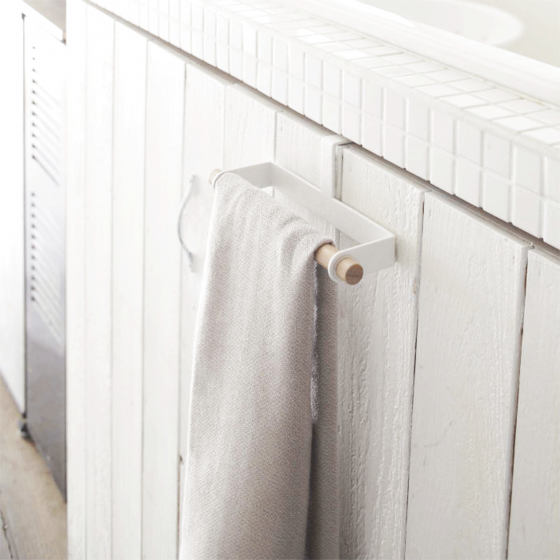 Crochet porte torchon en métal blanc