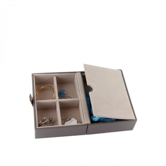 Boîte à bijoux de voyage taupe