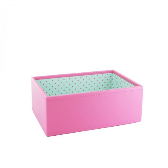 Boîte à bijoux rose bonbon pour enfant