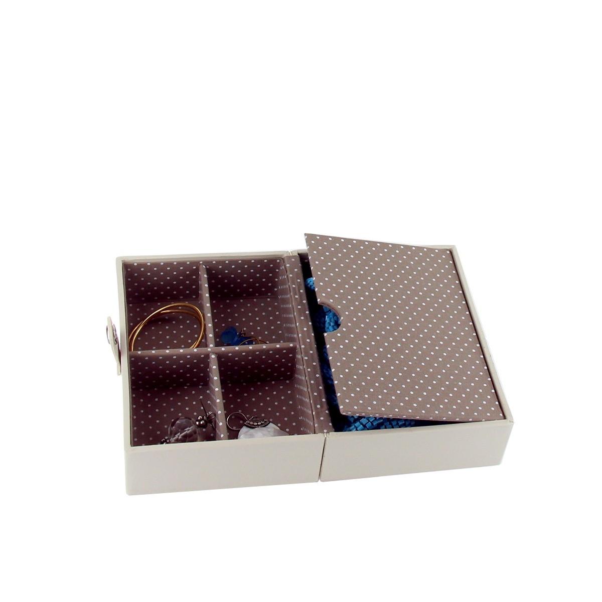 bo te bijoux voyage vanille rangementet caf. Black Bedroom Furniture Sets. Home Design Ideas
