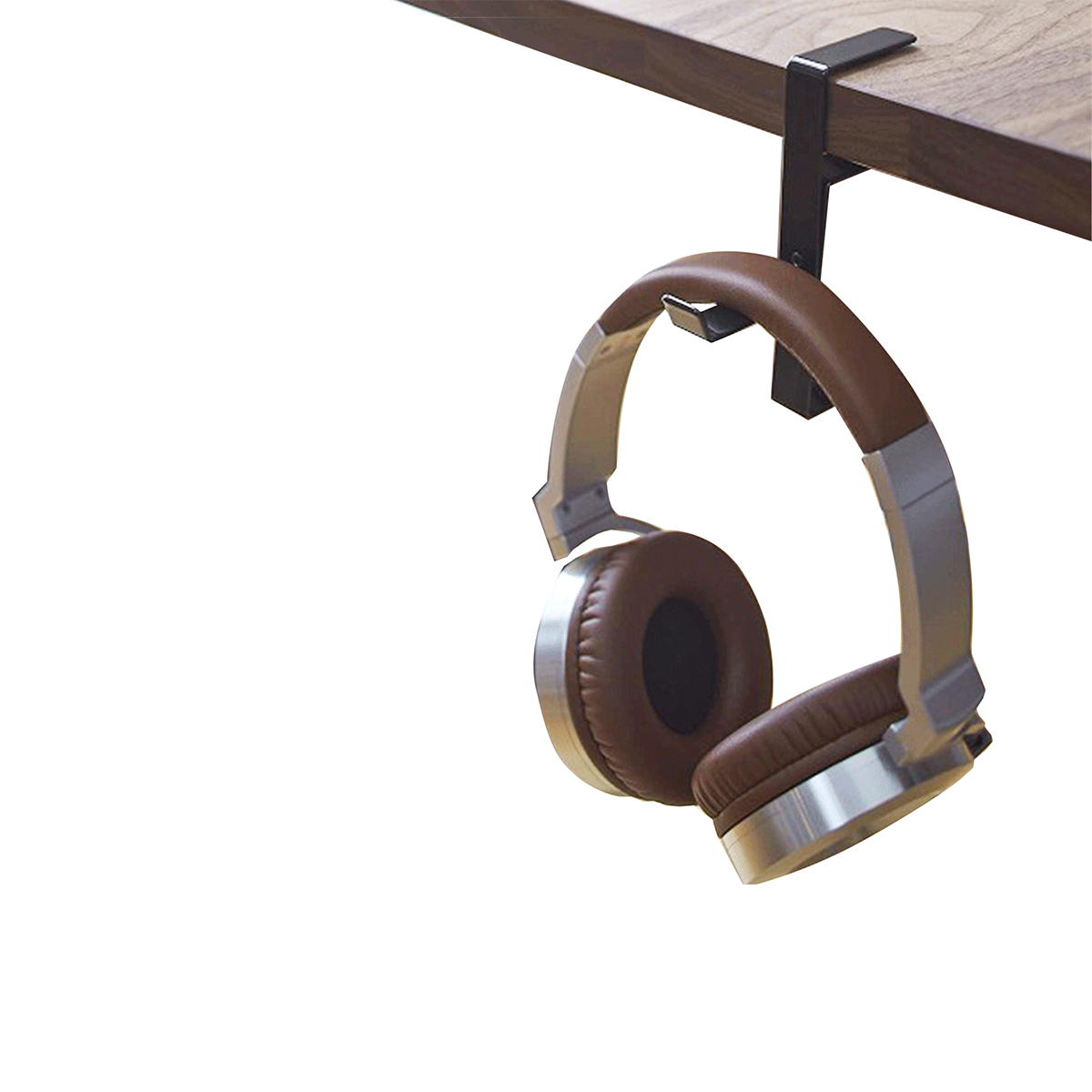 Support pour casque audio m tal noir - Porte casque audio ...