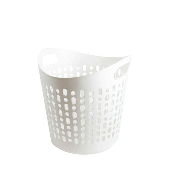 Panier linge blanc plastique souple - Corbeille a linge plastique ...