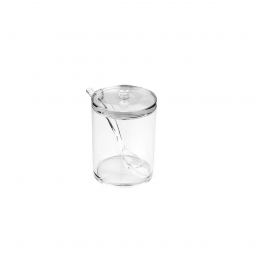 Sucrier en acrylique avec sa cuillère