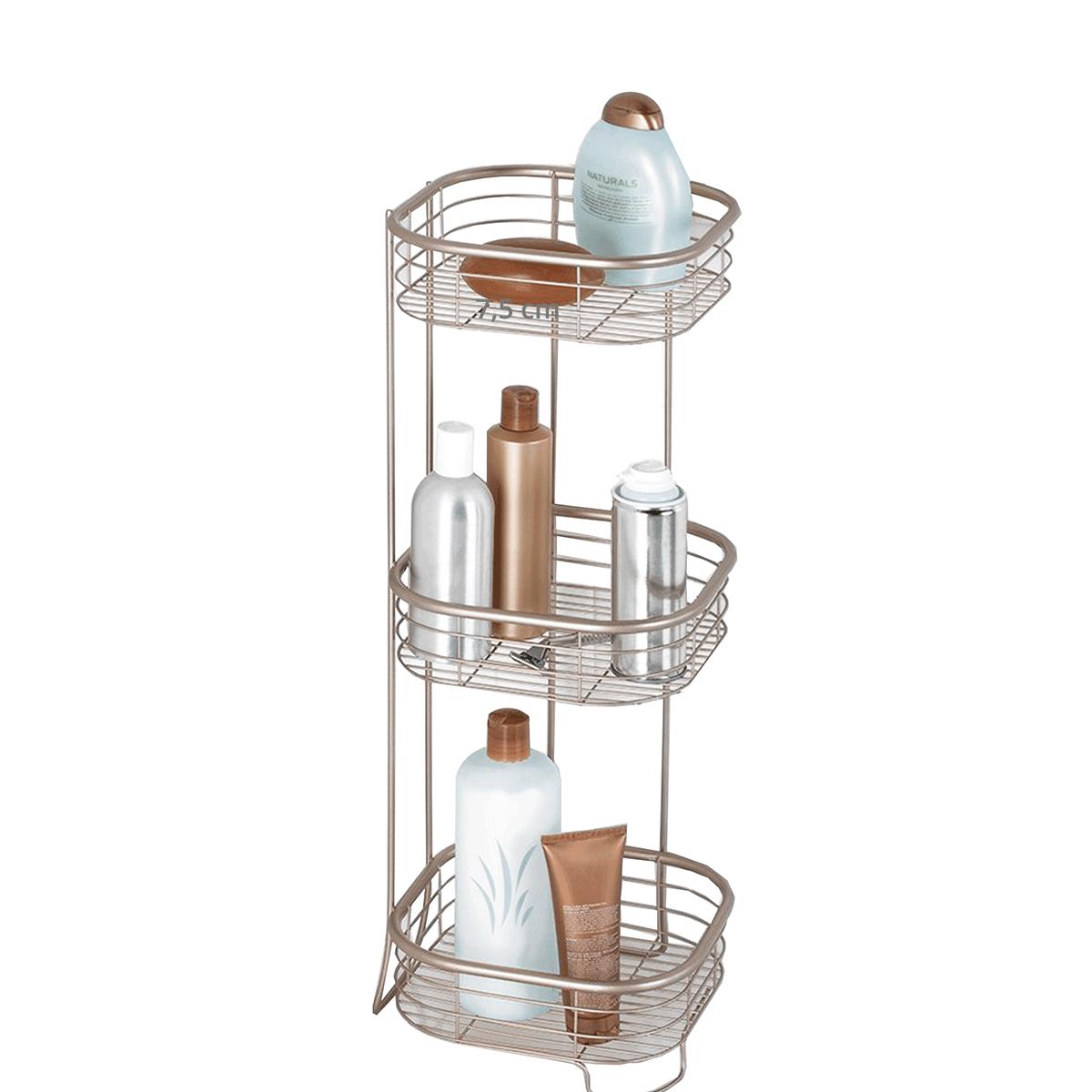 etag re de salle de bain m tal inoxydable 3 niveaux. Black Bedroom Furniture Sets. Home Design Ideas