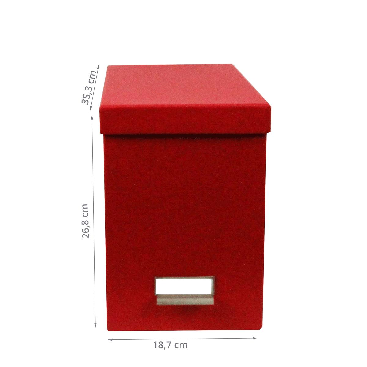 bo te de classement des papiers carton rouge. Black Bedroom Furniture Sets. Home Design Ideas