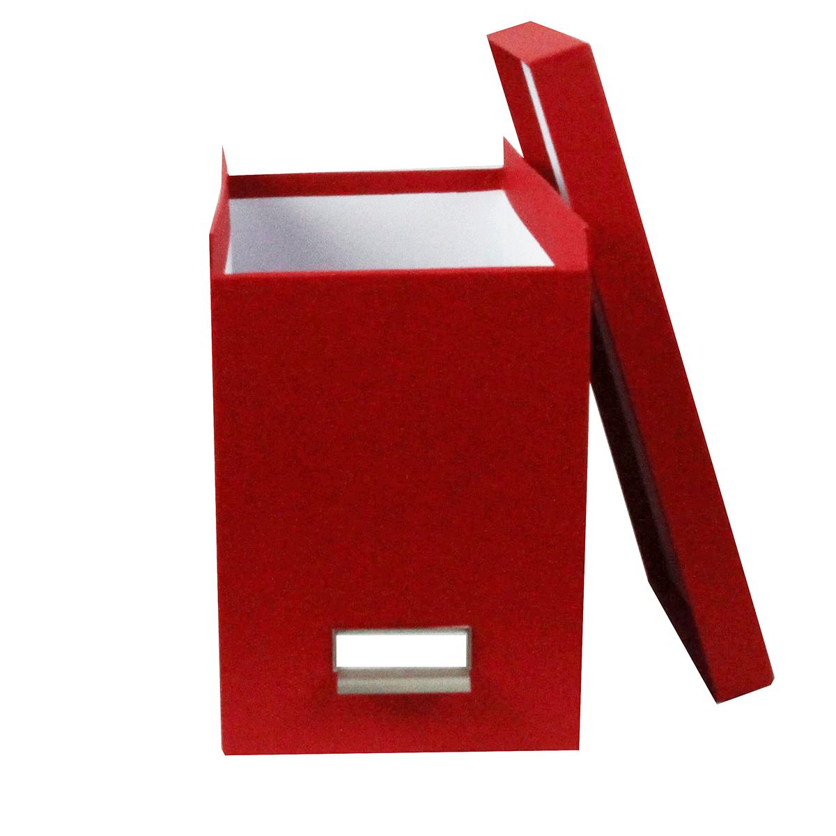 Bo te de classement des papiers carton rouge for Classement papier bureau