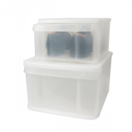 Boîte tiroir transparente pour chaussures. M