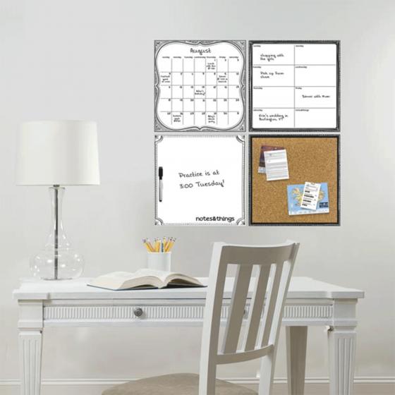 4 panneaux d'affichage pour organisation