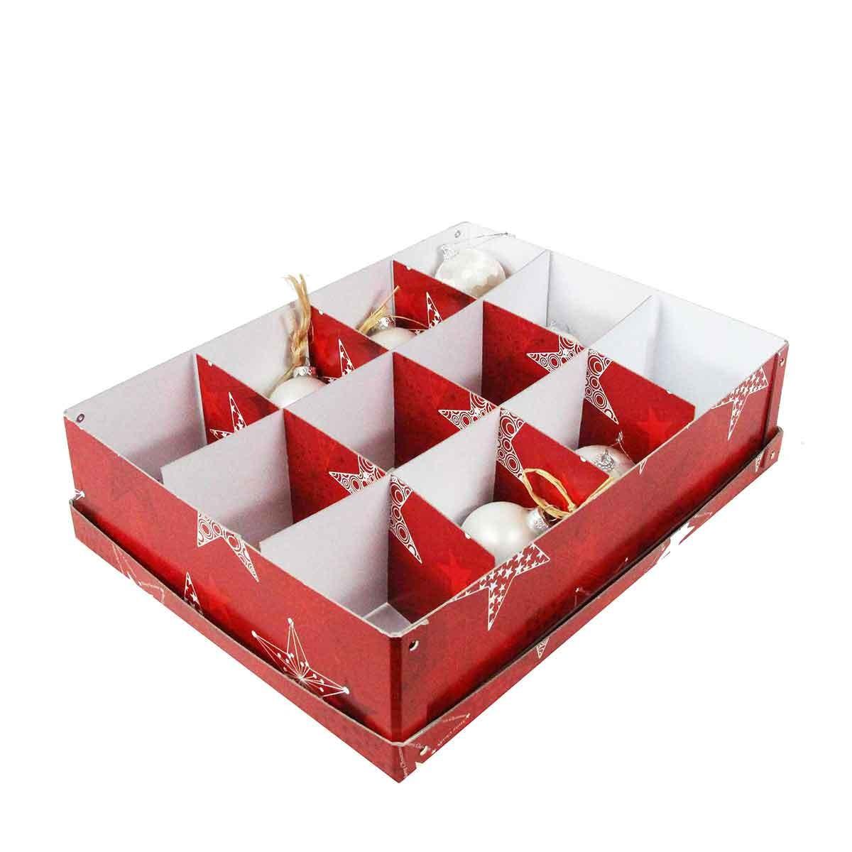 bo te de rangement d corations de no l carton rouge. Black Bedroom Furniture Sets. Home Design Ideas