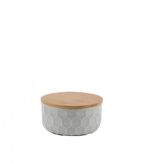 petit pot porcelaine gris clair rangement. Black Bedroom Furniture Sets. Home Design Ideas