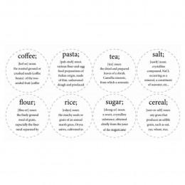 Etiquettes pour bocal (8 étiquettes différentes)