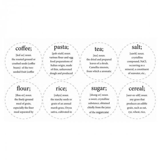 etiquettes rondes pour bocal rangement cuisine. Black Bedroom Furniture Sets. Home Design Ideas