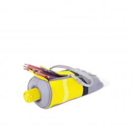 Trousse jaune en forme de tube de peinture