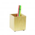 Pot à crayons en bois naturel