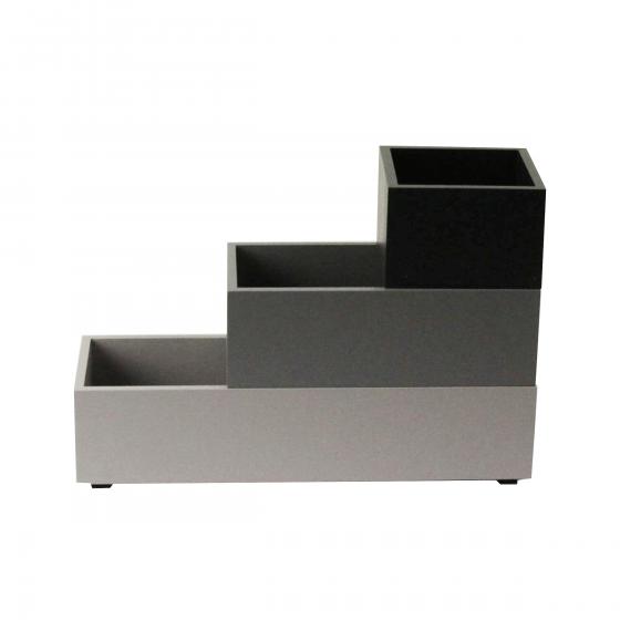 Compartiments de tiroir en bois gris/noir