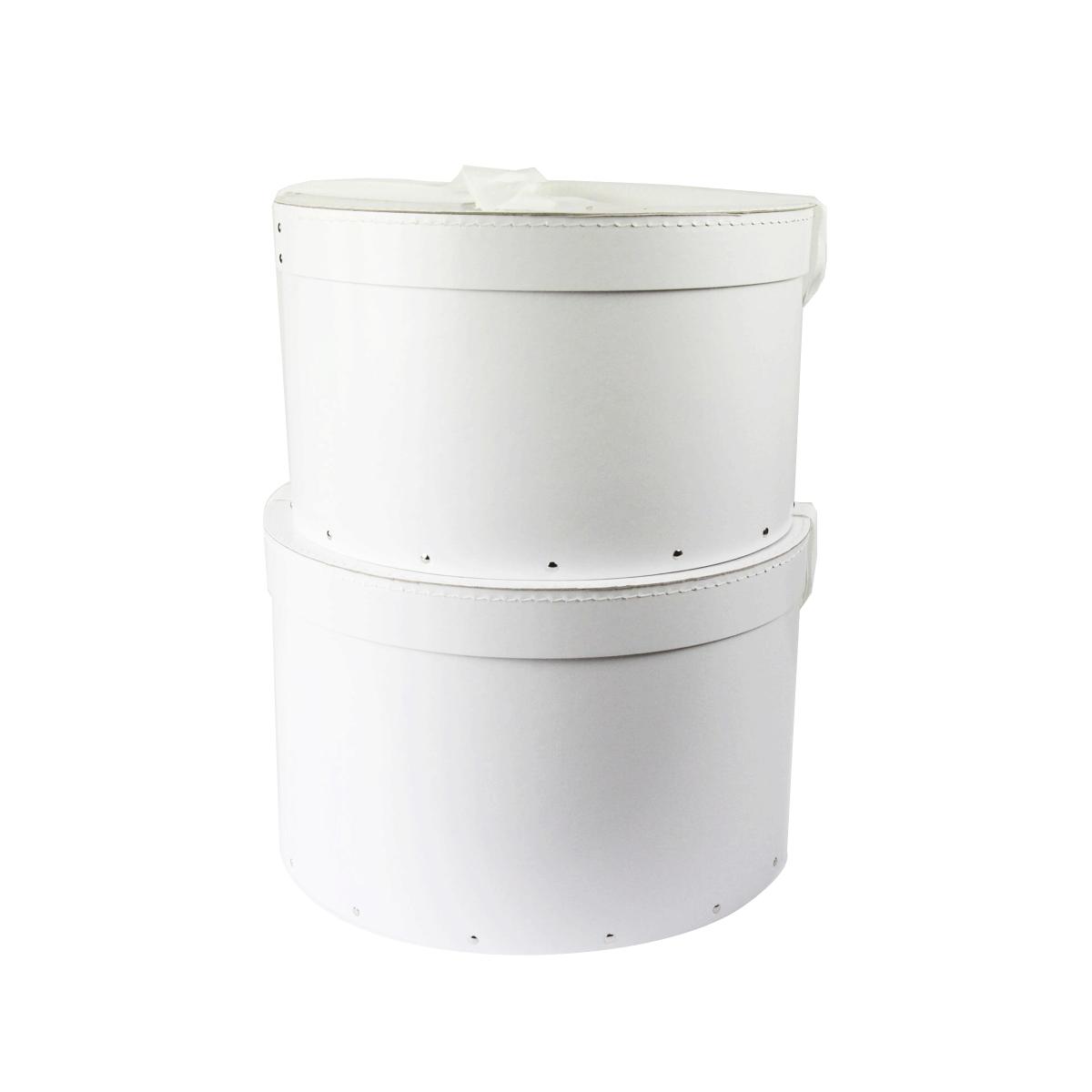 Grande Boite A Chapeau #2: ... Grande Boîte à Chapeau Blanche Avec Ruban Blanc (L)