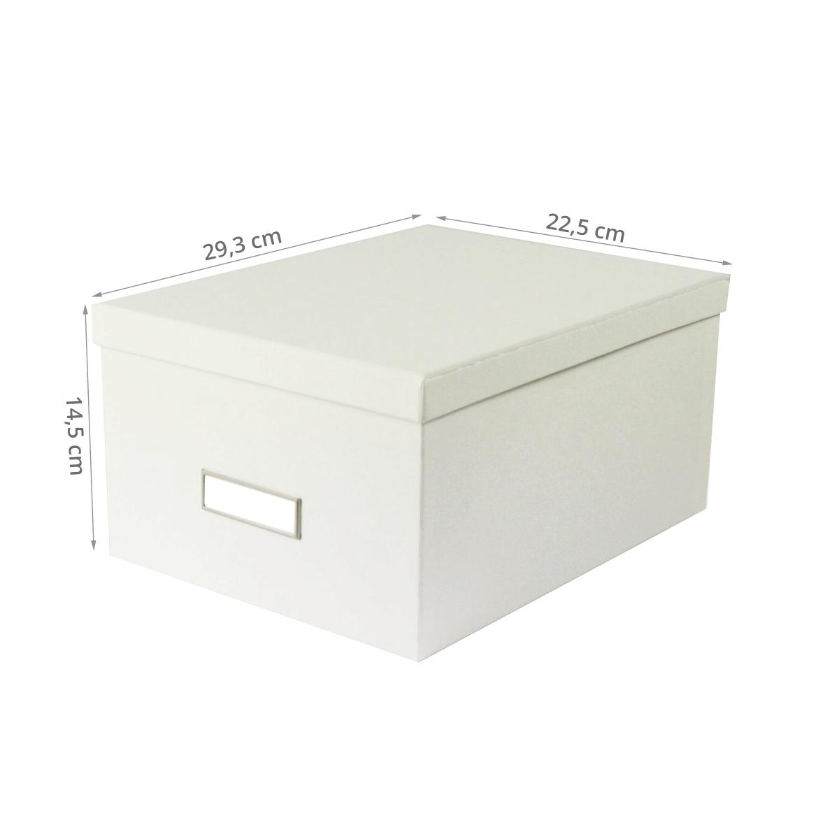 bo te dvd carton blanc rangement. Black Bedroom Furniture Sets. Home Design Ideas