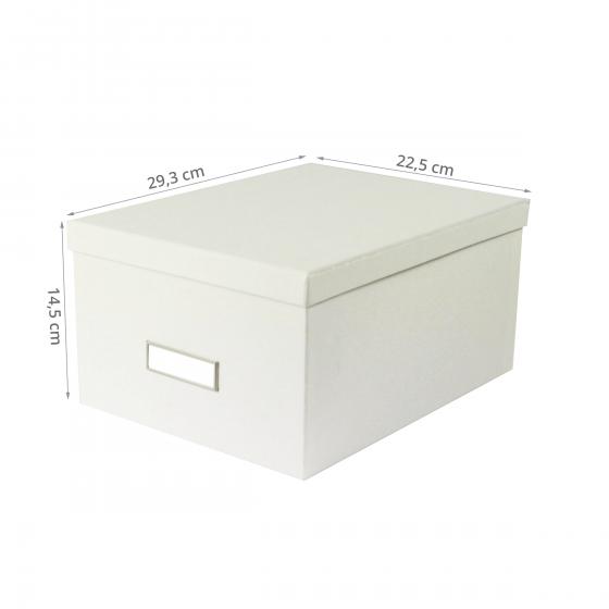 Boîte de rangement blanche