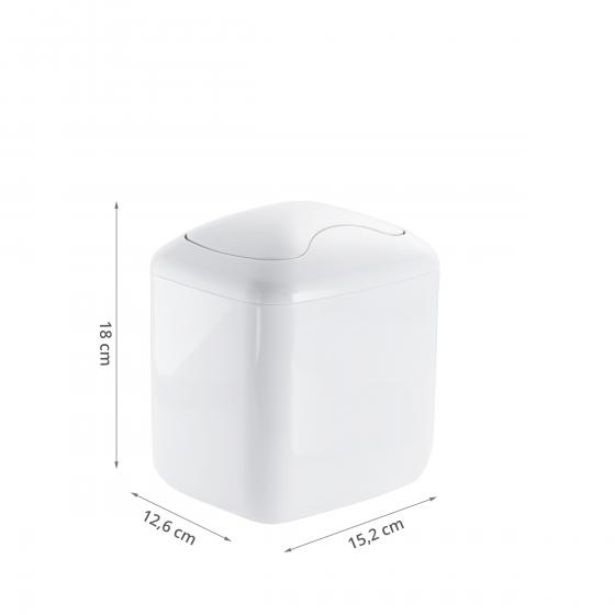 Mini poubelle de salle de bain 2,7 litres