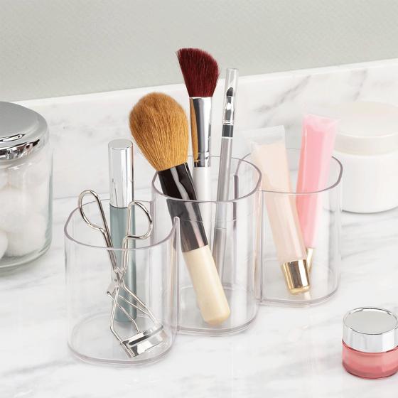 Pots de rangement maquillage acrylique - Rangement maquillage acrylique transparent ...