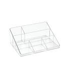 Organisateur de bureau transparent 6 compartiments