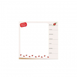 Tapis de souris semainier coccinelles