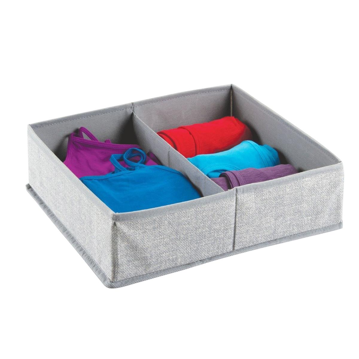 s parateur de tiroir tissu 2 compartiments. Black Bedroom Furniture Sets. Home Design Ideas
