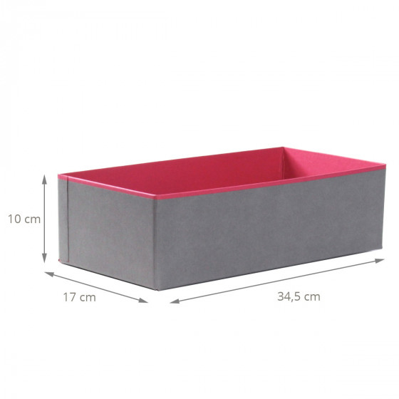 bo te carton organisation tiroirs gris fuchsia. Black Bedroom Furniture Sets. Home Design Ideas