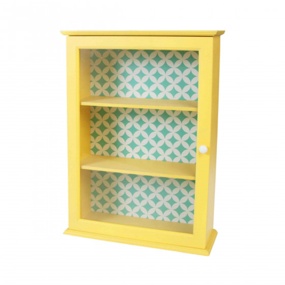 petite armoire vitr e jaune. Black Bedroom Furniture Sets. Home Design Ideas