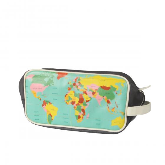 Trousse de toilette carte du monde