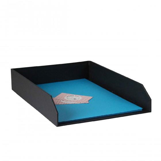Corbeille à courrier en carton gris