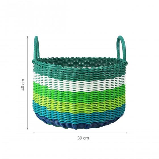 Panier de rangement bleu vert. Taille M