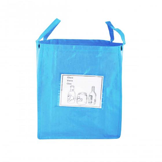 Sac de recyclage bleu pour le verre