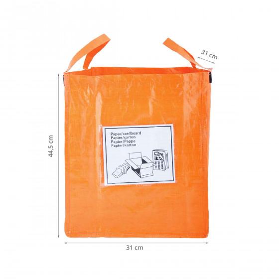 Sac de recyclage orange pour le papier