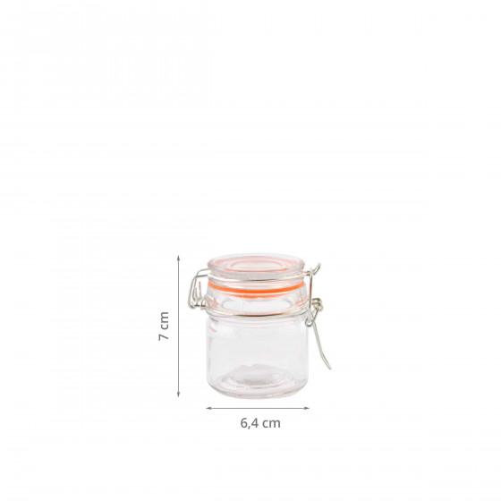 Petit bocal étanche. 0,09 litre