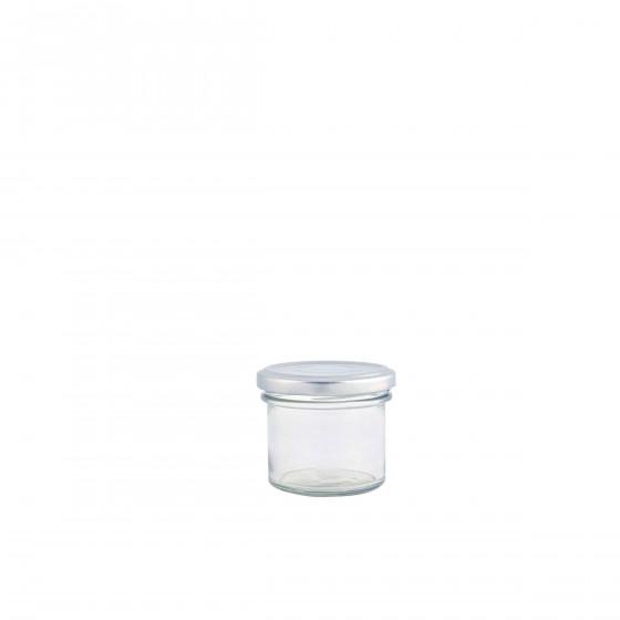 Bocal en verre avec couvercle métal 125 mL