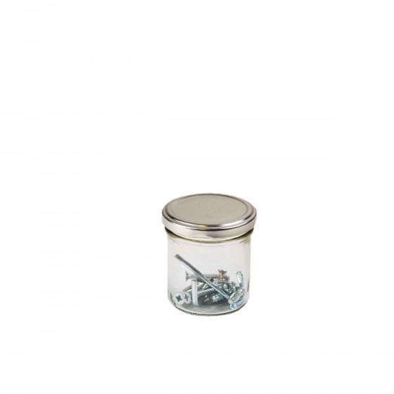 Pot en verre avec couvercle à visser 150 ml