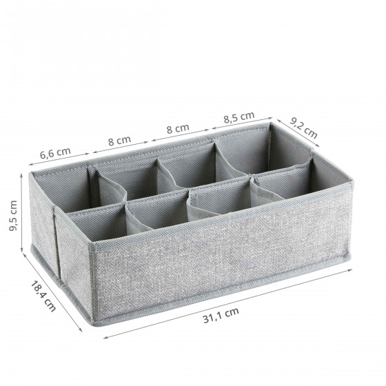 Rangement en tissu à 8 compartiments