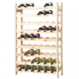 Etagère à vin 54 bouteilles bois FSC