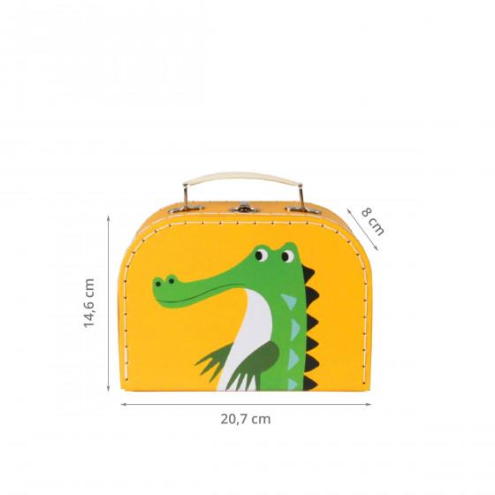 Valisette en carton jaune (M)