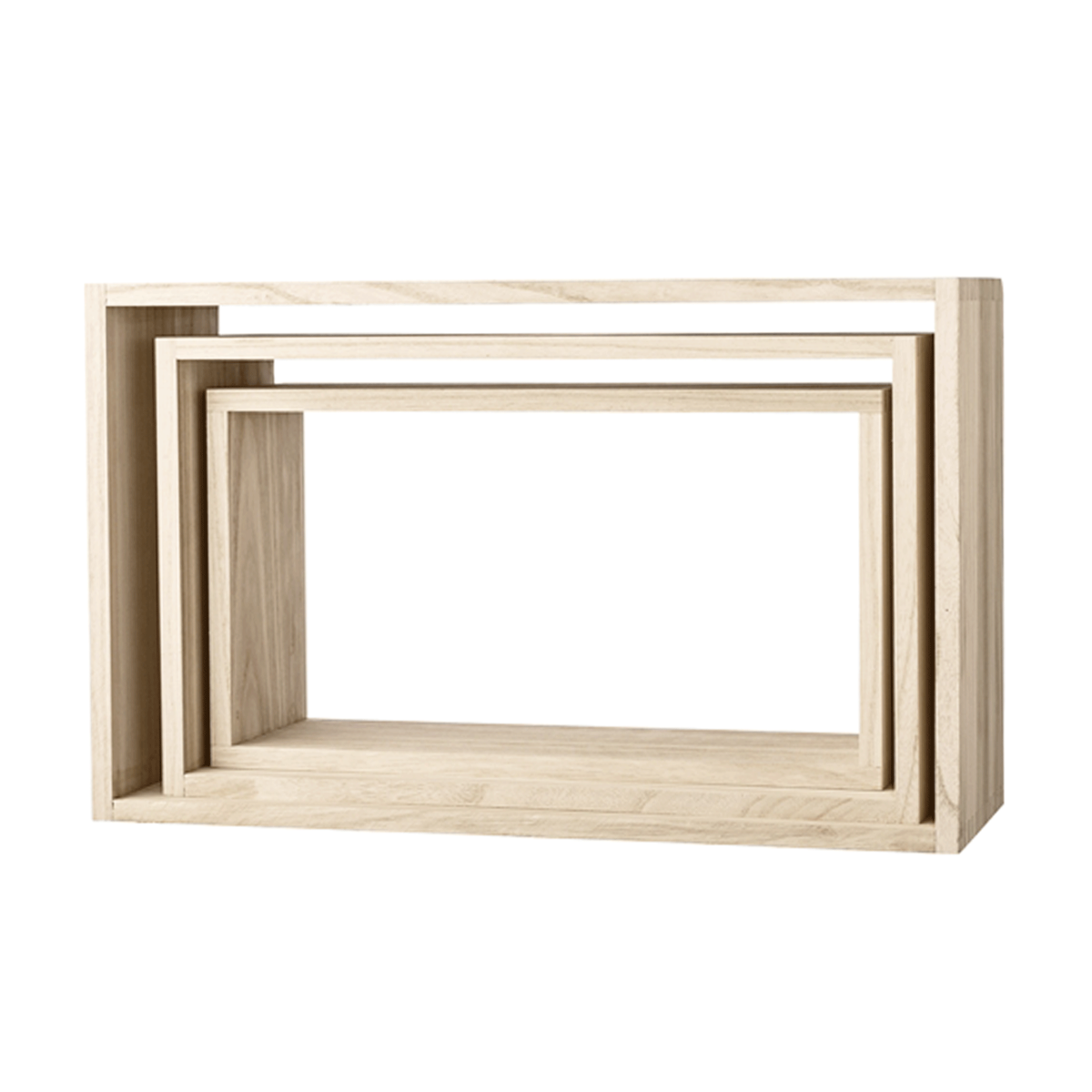 Etag re murale en bois naturel rectangulaire for Etagere niche murale