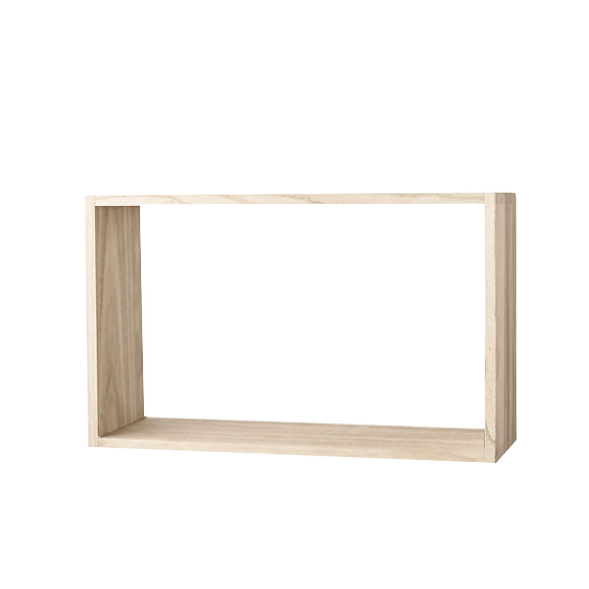 Etag re murale en bois naturel 45 cm de large for Etagere 50 cm de large