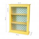 Petite armoire vitrée jaune