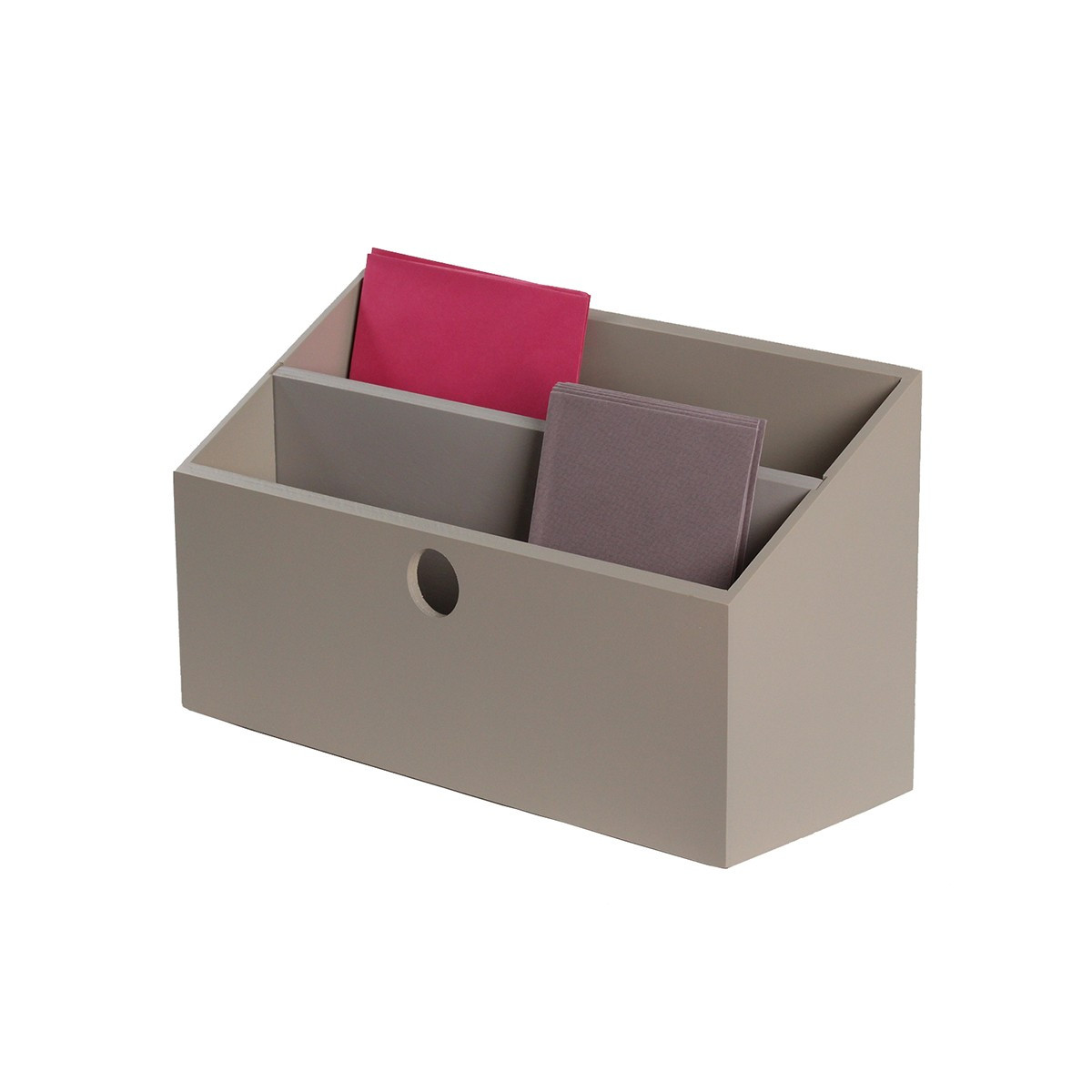 porte lettres bois gris taupe rangement courrier. Black Bedroom Furniture Sets. Home Design Ideas