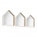 Etagère maison en bois naturel. Taille M