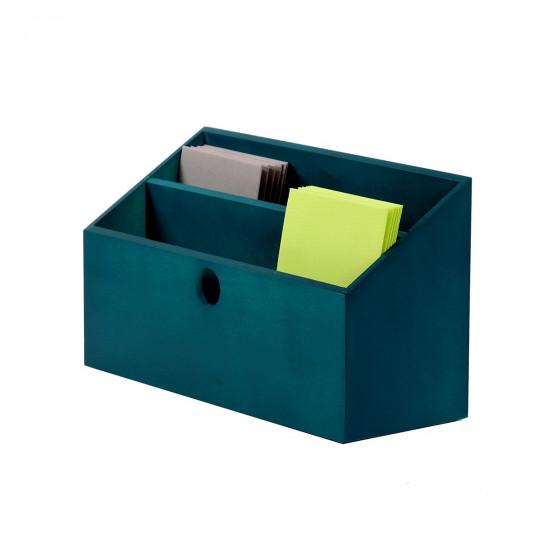porte lettres bois bleu canard rangement courrier. Black Bedroom Furniture Sets. Home Design Ideas