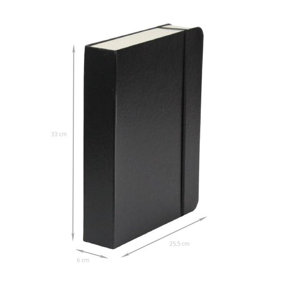 Grande boîte livre en carton noir avec ses étiquettes