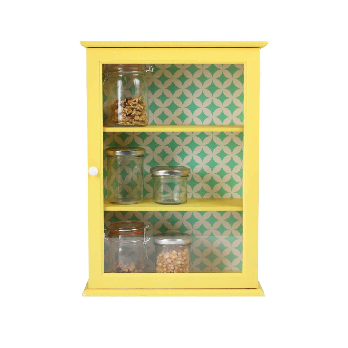 petite armoire vitr e jaune. Black Bedroom Furniture Sets. Home Design Ideas