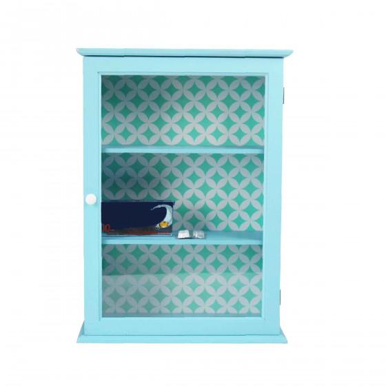 Armoire murale bleue